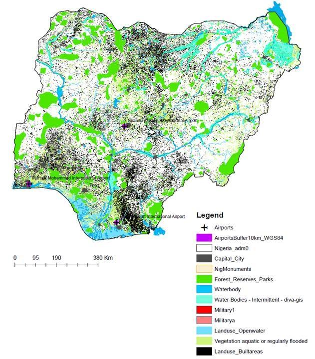 Nigeria conditioning map